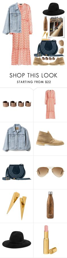 """""""Going to Nashville"""" by naki14 ❤ liked on Polyvore featuring Maison Margiela, The Kooples, Gap, Clarks, Chloé, Ray-Ban, West Elm, rag & bone, Too Faced Cosmetics and festival"""