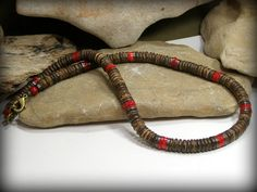 Mens Necklace Beaded Necklace Mens Jewelry by StoneWearDesigns