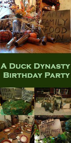 Duck Dynasty Birthday Party | candleinthenight.com