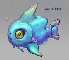 "Fish concept for ""Terrarium-land"". #terrarium_land, #indiedev, #gamedev, #indiegame, #animals, #art"