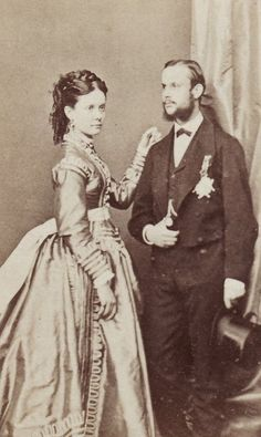 Infanta Isabel of Spain with her husband, the Count of Girgenti c1870s