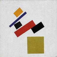 Kazimir Malevich, Suprematism, 1915  Huile sur toile, 53,5 x 53,7 cm