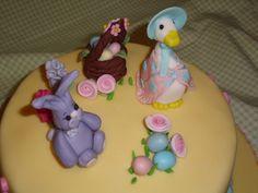 Tarta de Pascua estilo Beatrix Potter. Easter Cake on Beatrix Potter