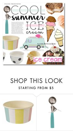 """""""Ice Cream Treats"""" by miee0105 ❤ liked on Polyvore featuring interior, interiors, interior design, home, home decor, interior decorating, Meri Meri, Kate Spade, Parlor and icecreamtreats"""