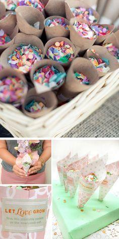 DIY Confetti Cones | Click Pic for 22 DIY Summer Wedding Ideas on a Budget | DIY Garden Wedding Ideas on a Budget
