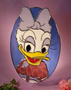 Stained Glass Daisy Duck by StainedGlassbyWalter on Etsy