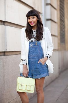 I know I probably couldn't rock shorts overalls, but I think this is a pretty adorable outfit.