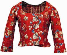 Caraco (Jacket), mid 18thC, France, Indian printed cotton. |Les Belles de Mai.: Deux siècles de mode à Marseille