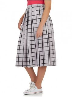 c(inch) Volume Midi Skirt Grey