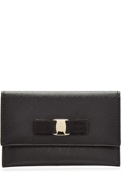 SALVATORE FERRAGAMO Miss Vara Leather Wallet. #salvatoreferragamo #bags #leather #wallet #accessories #