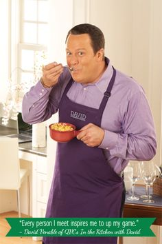This guy is the BOMB, if you ever want entertainment, watch him on QVC 's In the Kitchen with David.Wed and Sunday nights time will vary ! Crock Pot Cooking, Cooking Tips, Cooking Recipes, Wine Recipes, Great Recipes, Yummy Recipes, David Qvc, Qvc Hosts, David Venable