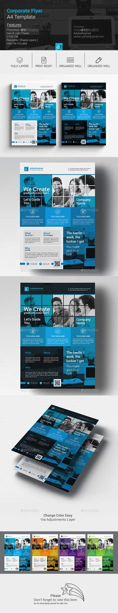 Creative Marketing Flyer V14 Marketing flyers, Flyer template - corporate flyer template