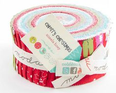 Cherry Christmas  by Aneela Hoey for Moda - Jelly Roll~~