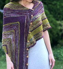 Rickroll Wrap (say that 5 times fast!), by Mary Annarella on Ravelry