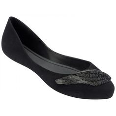 37192a1f0fc04 Mel by Melissa Ladies Dreaming Wing Black Flat Ballerinas Pumps Shoes