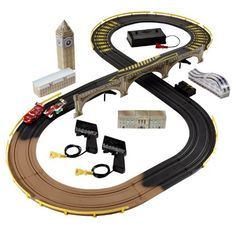 cars 2 rc london city raceway slot car racing set by mattel 7172
