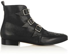 Jimmy Choo Marlin flocked leather ankle boots on shopstyle.com