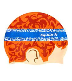 Bring your sweet 70's sweatband style to your next pool workout with this Headband Silicone Swim Cap. http://www.swimoutlet.com/product_p/39578.htm?color=212