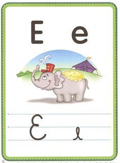 abecedario, letras, fichas lengua, lectura, leer Alphabet Writing, Alphabet Activities, Smurfs, Letters, Teaching, Education, Fictional Characters, Professor, Homeschooling