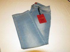 Red Rivet womens juniors 13 light sandblast Denim blue jeans crop capri NWT# #RedRivet #CaprisCropped