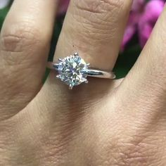 Check this moissanite engagement ring. This white gold ring dazzles under the light and makes an extra special statement based on its style and originality. Gold Circle Necklace, Gold Diamond Wedding Band, Sapphire Earrings, Ring Verlobung, White Gold Rings, Engagement Rings, Jewelry, Wedding Sparklers, Wedding Rings