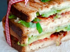 Bacon, Tomato and Avocado Panini... That gives me an idea... Blt paninis...