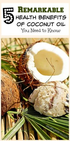 Coconut oil is one of those hidden gems in the world of health. It's easy, affordable, and natural solution to many health issues. Here are 5 remarkable health benefits of coconut oil that you NEED to know!