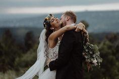 Beautiful Gabi and Laci on their bohemian wedding day! 💛 #weddingdress #wanderingphotographers #radlovestories#loveandwildhearts…