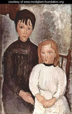 Two girls - Amedeo Modigliani - www.modigliani-foundation.org