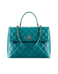 Chanel Turquoise Large Trendy CC Tote Bag - Cruise 2015