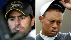 Few athletes have been as dominant in their respective sports this century as Tiger Woods and Jimmie Johnson. On Thursday, Johnson, the six-time NASCAR Sprint Cup Series champion, said that watching Woods' golfing career fall apart with a wave of injuries and missed cuts has been a gut-wrenching experience.
