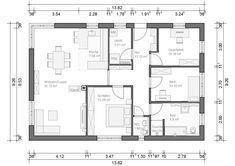 Bungalow München 107qm 4 Zimmer Haus Grundriss