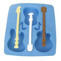 Plateau de moule à glaçons en silicone en forme de Guitare