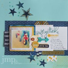 #papercraft #scrapbook #layout  jamie pate and hello today mixed with no limits