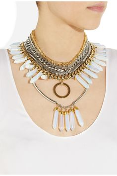 Assad Mounser|Medicine Wheel gold and silver-plated spiked necklace|NET-A-PORTER.COM