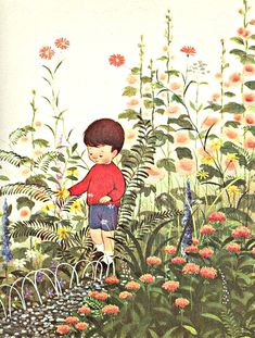 My Puzzles - 1950s-1970s Retro Cool - Child in Garden