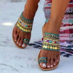 Toe Ring Sandals, Lace Up Sandals, Suede Sandals, Toe Rings, Flat Sandals, Women Sandals, Beach Sandals, Denim Sandals, Trendy Sandals