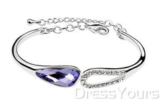 $ 20.79 Gentle Lady's Concise Design Alloy with Light Piurple Swarovski Crystal Bracelet