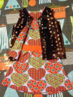 Herfst-outfitje maat 110. Zazaziletje in funfur. Apron, Fashion, Moda, Fashion Styles, Fashion Illustrations, Aprons