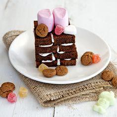 Schoorsteentjes met strooigoed - chimneys with Sinterklaas candy recipe.