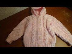 Sueter con gorro para bebé talla 18 meses, parte 2, delanteros - YouTube