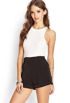Pleated High-Waist Shorts | FOREVER21 - 2000062384