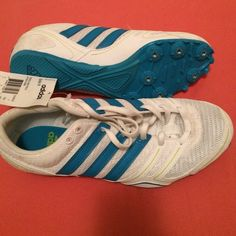 Adidas track spikes  size 8.5 new with tag, but without the original box. for middle distrance or sprints Adidas Shoes Athletic Shoes