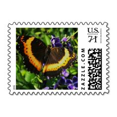 A stamp with a beautiful  Milbert's butterfly.