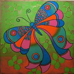 Beautiful Paintings of Butterflies | Butterfly Paintings On Canvas