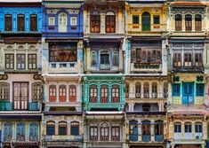 Clan Jetties Of Penang, George Town, Malaysia - A colorful cafe at...