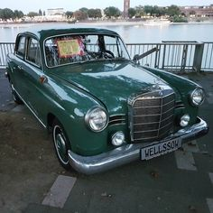 Old Benz #Car #Classic #Mercedes-Benz #Ponton #Oldtimer...