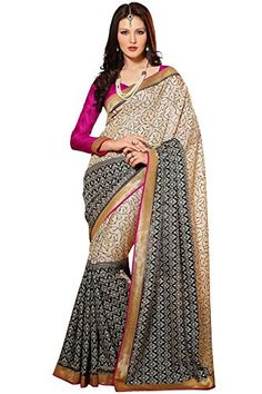 Graceful and gorgeous, this Cream coloured Bhagalpuri material for Indian Women from the house of TrendzStyle is designed as per the latest trends to keep you in sync with high fashion and with your wedding occasion. Made from Bhagalpuri fabric, it will keep you comfortable all day long. Stitch its Blouse as per your size and be the centre of attention. This Ethnic wear Saree comprises a Saree length of 5.5m. Note:Image is for reference purpose only and accessories are not provided with…