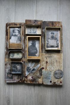 By Jérôme Cavailles French artist Found Object Art, Found Art, Altered Tins, Altered Art, Shadow Box Art, Assemblage Art, Mix Media, Oeuvre D'art, Collage Art