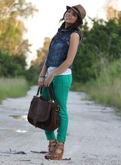I want a blue jean vest!